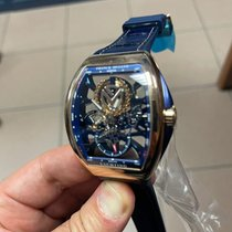 Franck Muller new Manual winding Skeletonized Display back Small seconds 44mm Rose gold Sapphire crystal