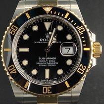 Rolex Submariner Date Or/Acier 41mm Noir Sans chiffres Belgique, Antwerpen