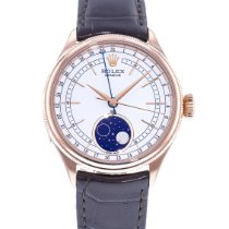 Rolex Cellini Moonphase Roségold 39mm Weiß