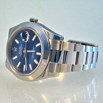 Rolex Datejust II Aço 41mm Azul