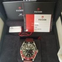 Tudor Steel Automatic Black No numerals pre-owned Black Bay GMT
