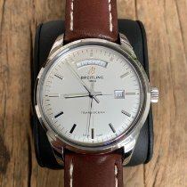 Breitling Transocean Day & Date Steel 43mm Silver No numerals United States of America, Ohio, Plain City