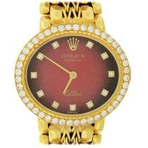 Rolex Cellini Yellow gold 25mm Red