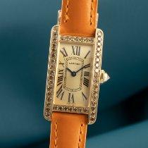 Cartier Tank Américaine Zuto zlato 27.5mm Zlatan