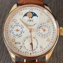 IWC Portuguese Perpetual Calendar ny 2014 Automatisk Klocka med originallåda och originalhandlingar IW502306