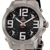 Jacob & Co. Titanium Quartz Black Arabic numerals 40mm pre-owned Five Time Zone