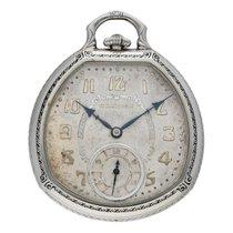 Hamilton White gold Manual winding Silver Arabic numerals 12mm pre-owned