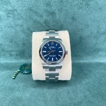 Rolex Oyster Perpetual 34 Steel 34mm Blue No numerals