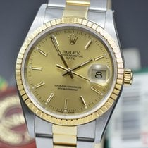 Rolex Oyster Perpetual Date new 2006 Automatic Watch with original papers 15233