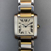 Cartier Tank Française Gold/Steel 28mm Silver Roman numerals United States of America, Florida, Aventura