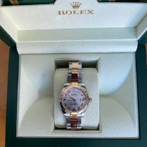 Rolex Rose gold Automatic Mother of pearl 31mm pre-owned Lady-Datejust
