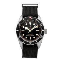 Tudor Steel Automatic Black No numerals 41mm pre-owned Black Bay