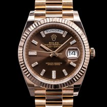 Rolex Rose gold Automatic Roman numerals 40mm Day-Date 40