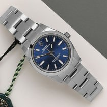 Rolex Oyster Perpetual 34 Ατσάλι 34mm Μπλέ