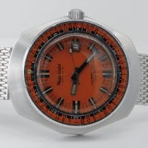 Philip Watch Caribe Steel 44mm Orange No numerals