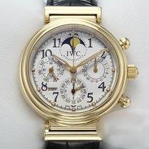 IWC Da Vinci Perpetual Calendar Oro amarillo 41.5mm Plata Arábigos