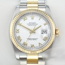 Rolex Lady-Datejust Gold/Steel 36mm White Roman numerals
