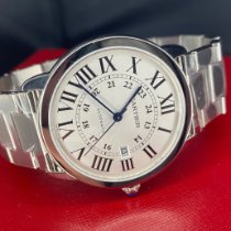 Cartier Steel Automatic Silver Roman numerals 42mm new Ronde Solo de Cartier