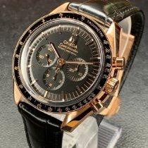 Omega Roségold Automatik Schwarz neu Speedmaster Professional Moonwatch