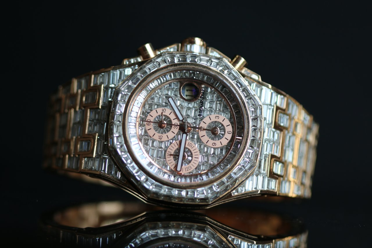 Audemars Piguet Royal Oak Offshore Royal Oak Offshore custom 18K rose gold full square diamond 42MM nouveau