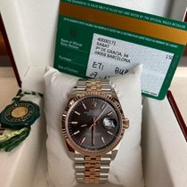Rolex Datejust Золото/Cталь 36mm Cерый Без цифр