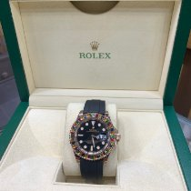 Rolex Rose gold Automatic Black No numerals 40mm pre-owned Yacht-Master 40