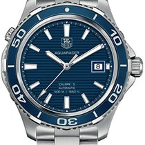 TAG Heuer Aquaracer 500M Steel 41mm Blue No numerals United States of America, New York, New York