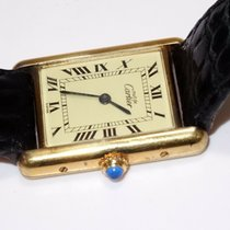 Cartier Tank Vermeil Silver 23mm Champagne Roman numerals United States of America, New Hampshire, Portsmouth