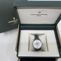 Frederique Constant Horological Smartwatch Steel 42mm Silver Arabic numerals
