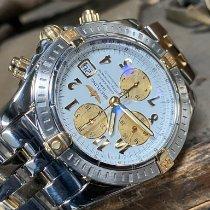Breitling Chronomat Evolution Gold/Steel 44mm White No numerals