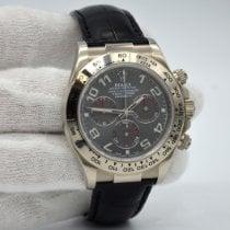 Rolex Daytona Белое золото 40mm Cерый Без цифр