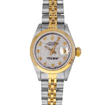 Rolex Oyster Perpetual Lady Date Gold/Steel 26mm White Arabic numerals