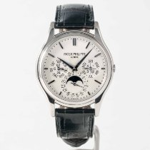 Patek Philippe Perpetual Calendar White gold 37.2mm Silver No numerals United States of America, Massachusetts, Boston