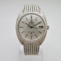 Omega White gold Automatic Silver No numerals 35mm pre-owned Constellation