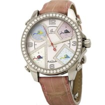 Jacob & Co. Five Time Zone Steel 42mm Mother of pearl United States of America, California, Newport Beach