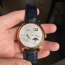 朗格 Lange 1 玫瑰金 38.5mm 銀色 羅馬數字