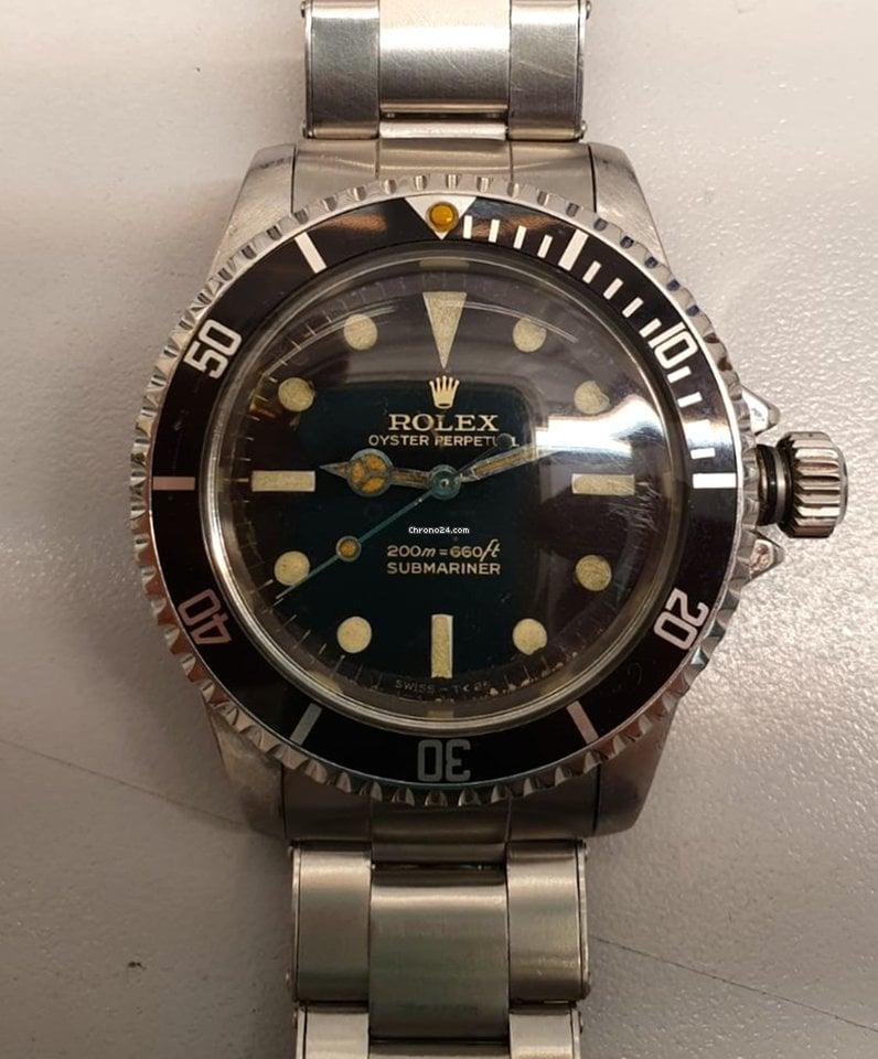 """Rolex Submariner (No Date) 5513 Submariner No Date """" Meters First """" aus 1965- B & P 1965 gebraucht"""