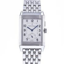 Jaeger-LeCoultre Reverso Duoface pre-owned 26mm Silver Steel