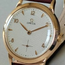 Omega Roségold Handaufzug Silber Arabisch 36mm gebraucht