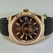 Rolex Sky-Dweller Rose gold 42mm Brown No numerals United States of America, New York, Massapequa