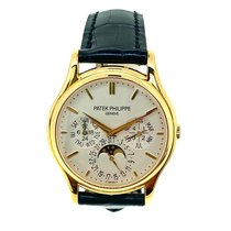 Patek Philippe Yellow gold Automatic White No numerals 37.2mm pre-owned Perpetual Calendar