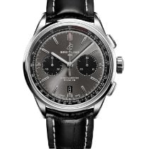 Breitling Steel 42mm Grey No numerals United Kingdom, Edinburgh