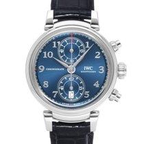 IWC Da Vinci Chronograph подержанные 42mm Синий Хронограф Кожа