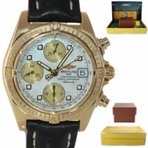 Breitling Chrono Cockpit Yellow gold 39mm Mother of pearl United States of America, New York, Huntington