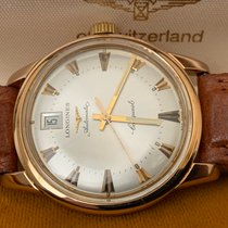 Longines Rose gold Automatic Silver No numerals 35mm pre-owned Conquest Heritage