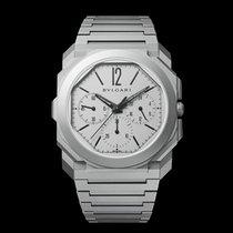 Bulgari Titanium Automatic Silver 42mm new Octo