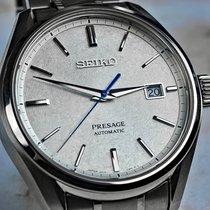 Seiko Titanium Automatic Silver No numerals 40.8mm pre-owned Presage