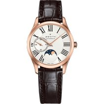 Zenith Elite Ultra Thin Rose gold 33mm Silver Roman numerals