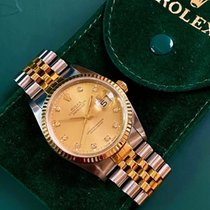 Rolex pre-owned Automatic 36mm Gold Sapphire crystal 10 ATM