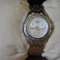 Tissot PRC 100 pre-owned 33mm Mother of pearl Chronograph Date Tachymeter Steel